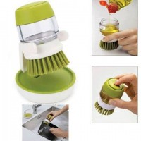 Soap Dispensing Palm Brush With Storage Stand