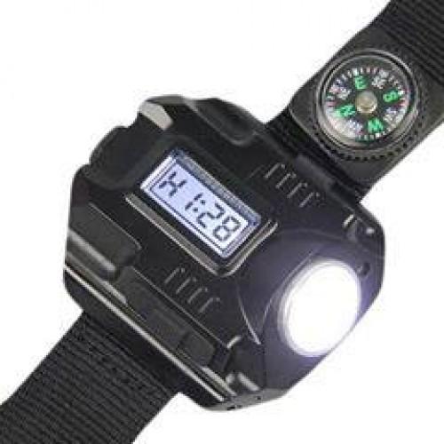 Rechargeable amp Tactical LED Flashlight Wristlight Wrist Light Lamp Waterproof USB