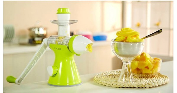 Hand Operated Slow Juicer : Kid Multi-functional Manual Hand Crank Single Auger Slow Juicer