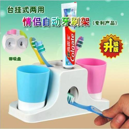 TOOTHPASTE DISPENSER WITH SUCTION CAP
