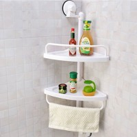 Corner shelf for bathroom and kitchen