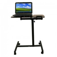 Folding adjustable laptop desk