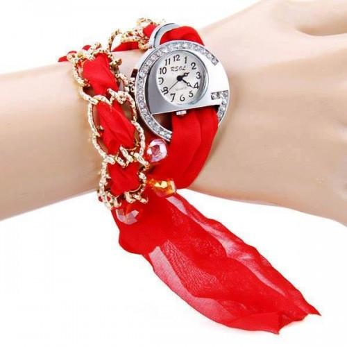 Ladies special valentines scarf watch