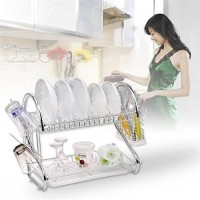 2 layer dish drainer