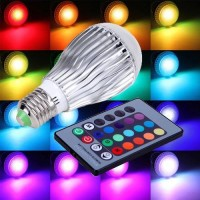 3W RGB LED LIGHT BULB WITH REMOTE CONTROL COLORS CHANGING E27