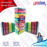 Colourful  Grip Sponge Scourinf Pad(Big)_CG-0445