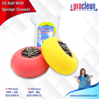 SS Ball With Sponge Scourer_BSS-9999