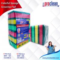 Colourful Sponge Scourinf Pad(Big)_CS-0490