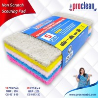 Proclean Scouring Pads Cleaning Scrub Sponge Non Scratch Scouring Pads Flexible Scouring Sponge Perfect For Kitchen Dishes Cleaning-Quick Dry Souring Pads 10 Pcs Pack_CS-0513