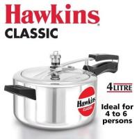 2.19 Kg Aluminium 4L Hawkins Classic Pressure Cooker, Capacity: 4 Litre