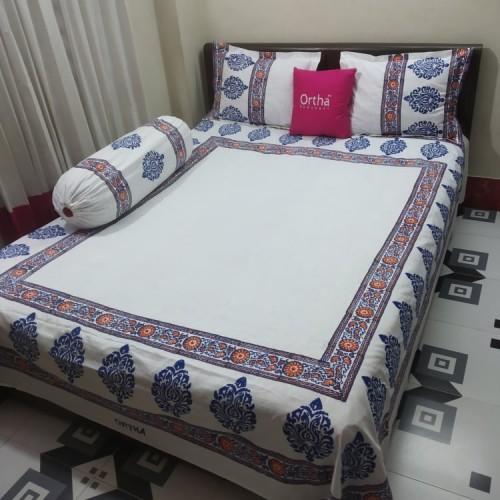 Block Work Handmade Bedsheet