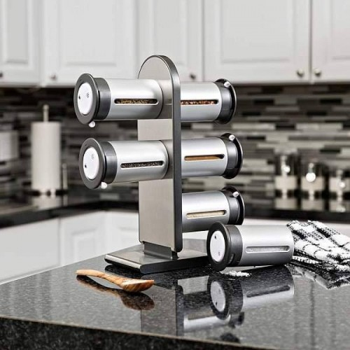 6 Pcs Magnetic Spice Stand