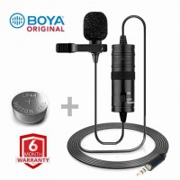Clip Microphone BOYA BY-M1 For PC, DSLR And Smartphone