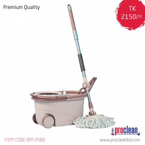 360 Degree Magic Floor Cleaning Spin Mop With Removable Basket
