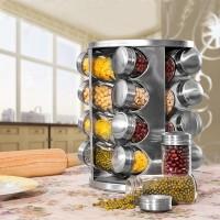 Spice & Pepper Organizer with jars || 16 Jars