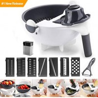 Magic Multi functional Rotate Vegetable Cutter...!