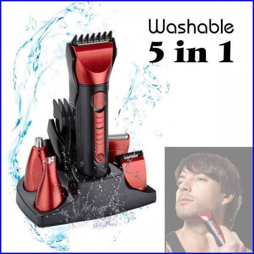 5 in 1 shaver and trimmer by kemei