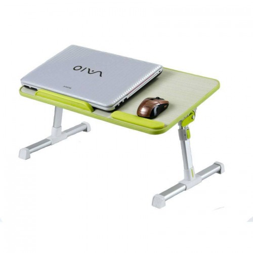 Ergonomic laptop table with cooling fan