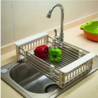 Kitchen sink wash rack