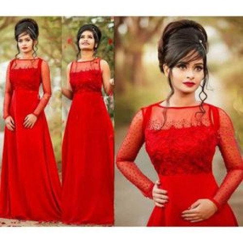 Women's Embroidery Gown Red