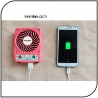 Portable Micro Mini USB fan with Mobile phone charger